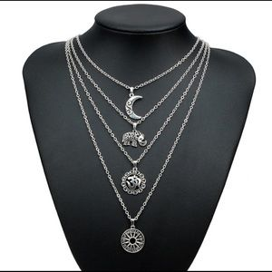 Multi—Layered Om Necklace With Vintage Style